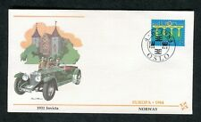 Cover 1984 Europa Norway Postmark: Illustrated 1931 Invicta Car