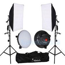 LED Light Bulbs Softbox Studio Photo Photography Continuous Lighting Kit Stand
