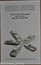 1965 CHRIS-CRAFT advertisement, 5 Chris Craft boats, 33-48 ft cabin cruisers