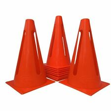 "World Sport Set of 15 ORANGE COLLAPSIBLE 9"" Cones AGILITY TRAINING FIELD MARKING"