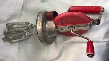 Jar mixer handheld crank mixer wooden handle Red Egg beater
