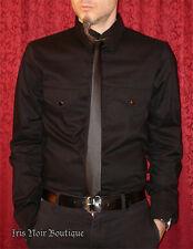 Lip Service Vinyl Classics Mens Guys Goth Industrial Pleather Vegi Tie Shirt L