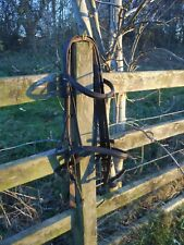RAISED BRIDLE BROWN ENGLISH LEATHER FULL SIZE & WEB REINS QUICK DISPATCH