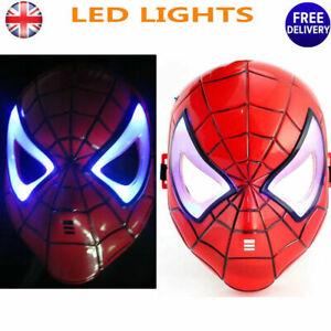 LED Spiderman Mask Kids Fancy Dress Superhero Hero Spider Man Party Masks