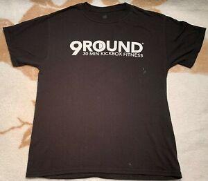 9 Round 30 Minute Kickbox fitness t-shirt Mens Size Medium