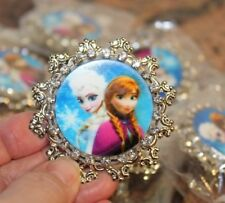 Disney Character Frozen Elsa and Anna Rhinestone Brooch or Clip Hair