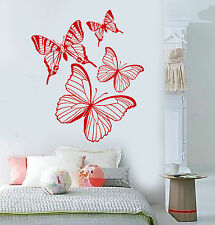 Vinyl Wall Decal Beautiful Butterflies Insects Girl Room Stickers (1583ig)