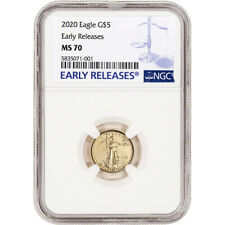 2020 American Gold Eagle 1/10 oz $5 - NGC MS70 Early Releases