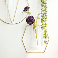 Flower Wire Wall Glass Vase