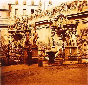 ITALIE Rome Palais Borghèse 1952Photo Stereo Plaque verre Vintage VR23L2n