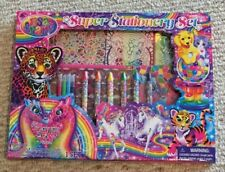 Brand New Lisa Frank Super Stationary Set 375 Pcs Stickers Markers BNIP Coloring