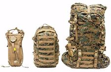 USMC MARINE CORP ILBE BACK PACK COMPLETE GEN 2 W/ ASSAULT & HYDRATION PACKS VG