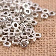 100Pcs Tibetan Silver/Gold/Bronze Rings Spacer Beads Jewelry Findings 6MM Z3039