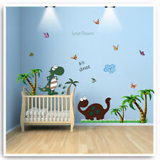 Dinosaur Wall Stickers Animal Jungle Tree Nursery Baby Room Home Art Decal Decor