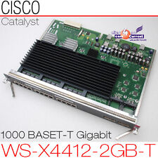 CISCO CATALYST 4006 WS-X4412-2GB-T 1000 BASE-T GIGABIT ETHERNET SWITCHING MODULE
