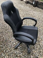 High Back Leather Office Gaming Desk Chair - Black