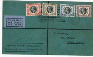 1935 Silver Jubilee South West Africa set on JUbilee Day(not FD) Cover to London