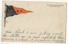 CHARLOTTE HALL MILITARY ACADEMY Pennant MD Vintage Maryland 1910 Postcard