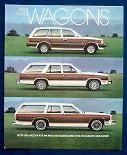 Prospekt brochure 1981 Ford Wagons LTD * Fairmont * Escort (USA)