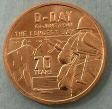 Heroes D-Day Vietnam 1944 Coin 1 AVDP Oz .999 Fine Copper Round 70 Years