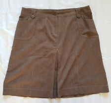 Ladies size 18 Brown Pleated denim skirt- Target