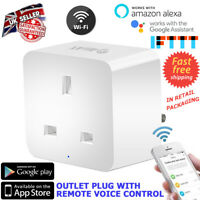 WIRELESS WIFI SMART SOCKET PLUG TIMER CONTROL SWITCH AMAZON ALEXA / IFTTT AIIAT