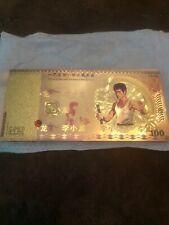 More details for bruce lee 2013 100 gold banknote 24 kt gold (imprinted on note)
