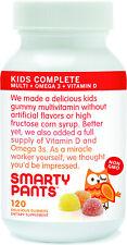 Kids Complete Multi + Omega 3 + Vitamin D, SmartyPants, 120 piece