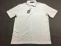 Bugatchi Uomo New Mens Gray Short Sleeve Polo Shirt Size Large