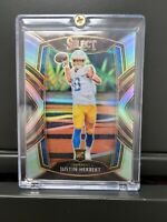 2020 Select Football Justin Herbert CLUB LEVEL SILVER Prizm #244 Rookie RC
