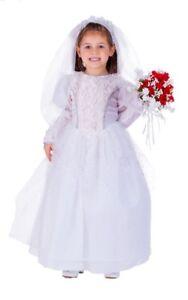 Little Girl Shimmering Bride White Costume By Dress Up America