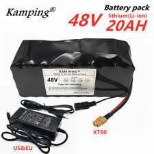 48V 20ah e-bike Lithium ion Battery with Charger, for 1000w Electric Bike + XT60