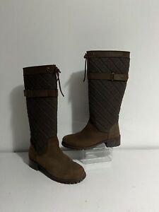 Crew Clothing Boots Quilted Country Riding Boots Size Uk 6
