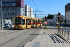 PHOTO  FRANCE TRAMS SABINES ROUTE 2 1 CAR ON CROSSOVER