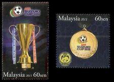 AFF Suzuki Cup 2010 Champion Malaysia 2011 Football Games Sport (stamp) MNH