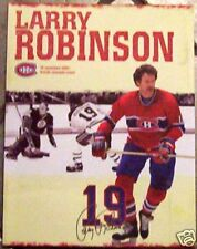 PROGRAM, TICKET Larry Robinson 19 from his retiring jersey night (banner night)