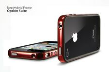 SGP Neo Hybrid Ex custodia cover Case Bumper per iPhone 4 S Chrome Red