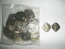2005 Bahamas 15 Cent square coins (20 coins) Hibiscus Unique Shiny