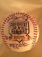 2000-01 A's Fan Ball Oakland Athletics Signed Autographed Auto Baseball