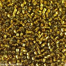 7,2 g de perles délicas Ref0857 Matte transparent smoky amethyst AB  Taille 11