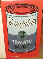 """ANDY WARHOL """"CAMPBELL'S SOUP TOMATO"""" HUGE COLOR POSTER"""
