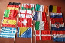 Any 2 x World Cup Car Flags France,England,Spain,Uruguay,Brazil,Belgium,Croatia