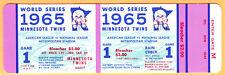 GEM MINT PROOF FULL TICKET! 1965 WORLD SERIES GM #1-DODGERS/TWINS