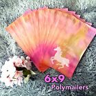 100 Designer Printed Poly Mailers 6X9 Shipping Envelopes Bags UNICORN