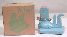 Vtg 1950s Tuppercraft Pin Kaddy for Safety Pins Nursery Pink Blue & OB