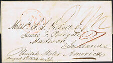 1834 Crewkerne Chudleigh Somerset to Boston USA with two page letter