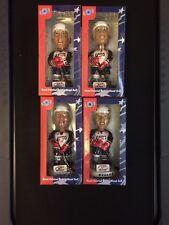 NHLPA USA Hockey Bobbleheads Olympics 2002 Lot of 4 Leetch LeClair Modan Amonte