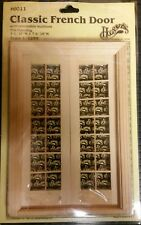 Door -Double French - wooden dollhouse miniature: (1/12 scale) Houseworks #6011