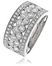 Diamond Half Eternity Wedding Ring 1.00ct Brilliant Cut F VS in 18ct White Gold