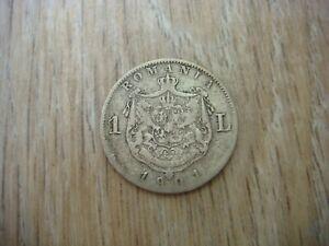 RRR RARE Romania Silver Coin 1 Lei,1901 Carol I